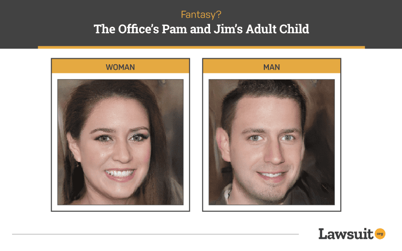 The Office's Pam and Jim Child